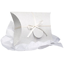 Buy John Lewis Silver Glitter Gift Box Online at johnlewis.com