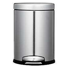 Buy simplehuman Deluxe Mini Round Pedal Bin, 3L Online at johnlewis.com