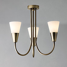 Buy John Lewis The Basics Lulu Ceiling Light, 3 Arm, Antique Brass Online at johnlewis.com