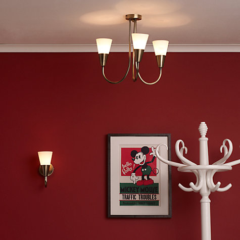 Buy John Lewis Value Lulu Ceiling Light, 3 Arm, Antique Brass Online at johnlewis.com