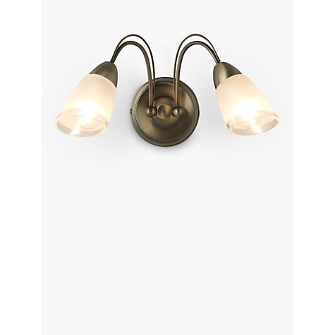 Buy John Lewis Mizar Wall Light, 2 Arm, Antiqued Brass Online at johnlewis.com