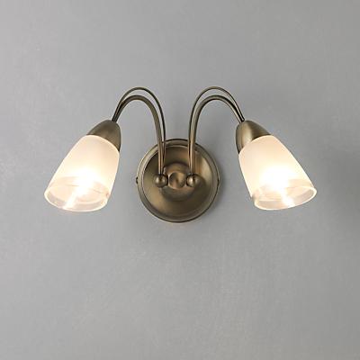 John Lewis Mizar Wall Light, 2 Arm