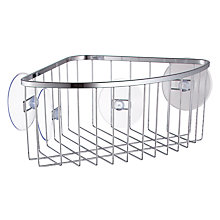 Buy John Lewis Suction Pad Corner Basket Online at johnlewis.com