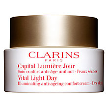 Buy Clarins Vital Light Day Illuminating Anti-Ageing Comfort Cream, 50ml Online at johnlewis.com