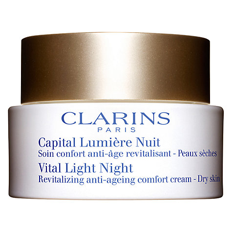 Buy Clarins Vital Light Night Revitalizing Anti-Ageing Comfort Cream, 50ml Online at johnlewis.com
