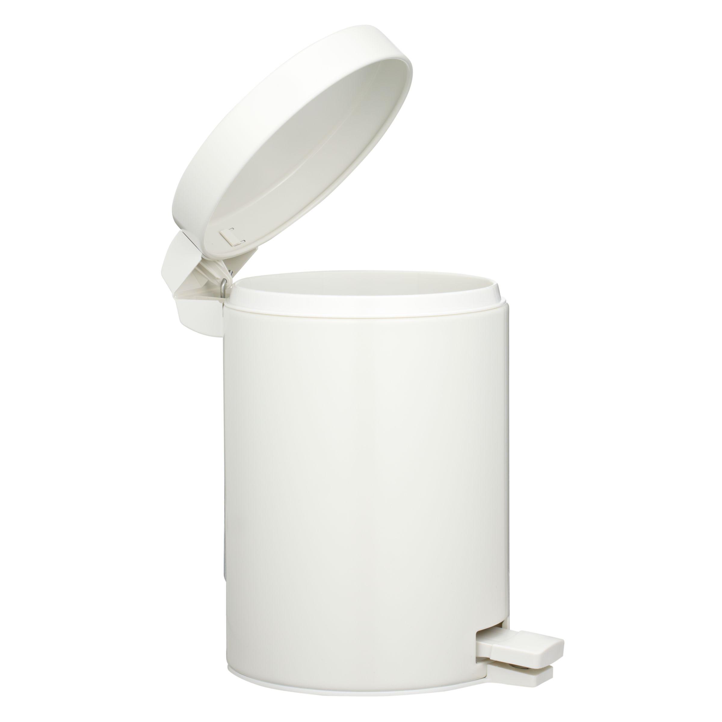 Pedal Bin, White, 3L 149347