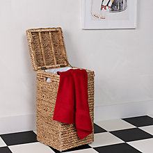 Buy John Lewis Water Hyacinth Linen Bin, Natural Online at johnlewis.com