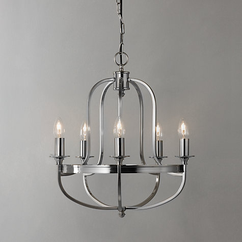 Buy John Lewis Warwick Ceiling Light, Nickel, 5 Arm Online at johnlewis.com