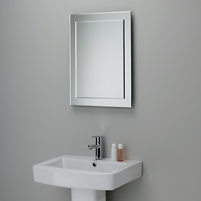 John Lewis Duo Wall Bathroom Mirror, 60 x 45cm