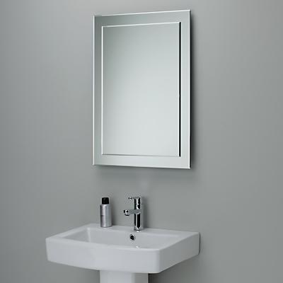 John Lewis Duo Wall Bathroom Mirror, 70 x 50cm