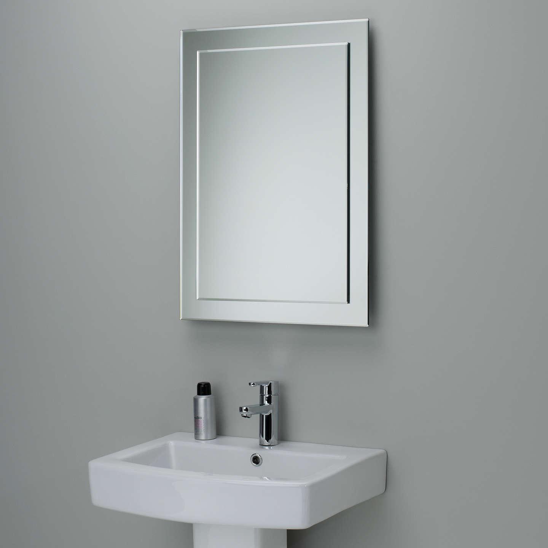 John Lewis Duo Wall Bathroom Mirror, 70 x 50cm at John Lewis