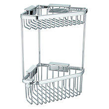 Buy John Lewis 2-Tier Corner Basket, Small Online at johnlewis.com