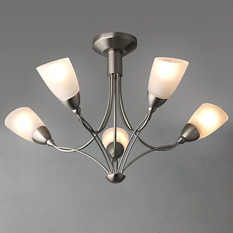 Buy John Lewis Maria Ceiling Light, 5 Arm, Chrome Online at johnlewis.com