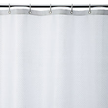 Buy John Lewis Jacquard Shower Curtain, White Online at johnlewis.com