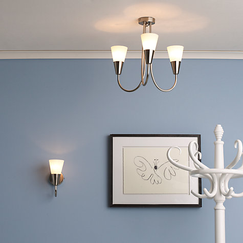 Buy John Lewis The Basics Lulu Ceiling Light, 3 Arm, Brushed Chrome Online at johnlewis.com