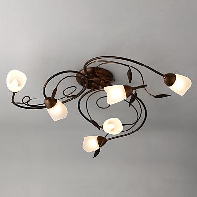 John Lewis Carmela Ceiling Light, 6 Arm