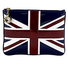 Buy Aspinal Large Flat Brit Flag Cosmetic Pouch Online at johnlewis.com