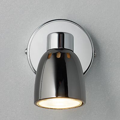 John Lewis Fenix Single LED Spotlight, Black Pearl Nickel