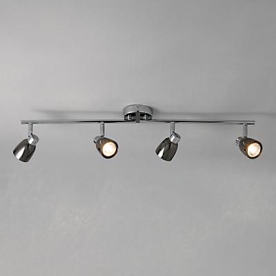 John Lewis Fenix 4 LED Spotlight Ceiling Bar, Black Pearl Nickel
