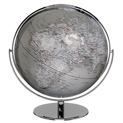 "Buy John Lewis Globe, Silver, 17"" Online at johnlewis.com"