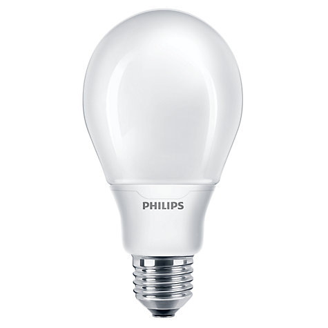 Buy Philips 12W ES CFL Bulb, Opal Online at johnlewis.com
