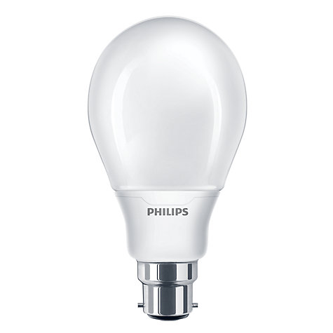 Buy Philips 12W BC CFL Bulb, Opal Online at johnlewis.com