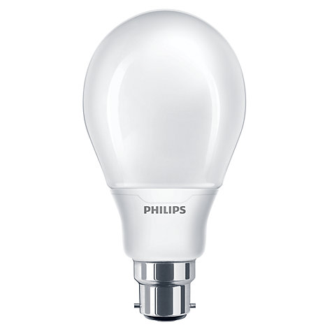 Buy Philips 16W BC Softone Energy Saving Bulb, Opal Online at johnlewis.com