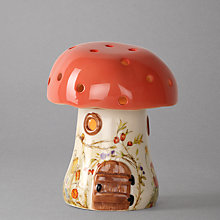 Buy White Rabbit Bramble Red Toadstool Children's Lamp Online at johnlewis.com