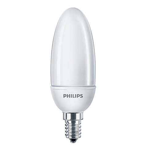 Buy Philips 12W SES Softone Energy Saving Candle Bulb, Opal Online at johnlewis.com