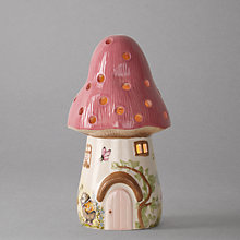 Buy White Rabbit Dewdrop Pink Toadstool Children's Lamp Online at johnlewis.com