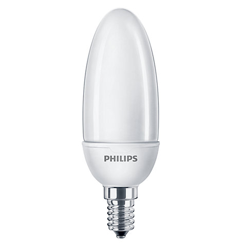 Buy Philips 5W CFL Candle Bulb, Opal Online at johnlewis.com