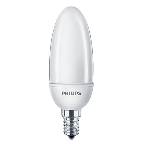 Buy Philips 8W SES CFL Candle Bulb, Opal Online at johnlewis.com