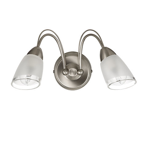 Buy John Lewis Mizar Wall Light, 2 Arm, Chrome Online at johnlewis.com