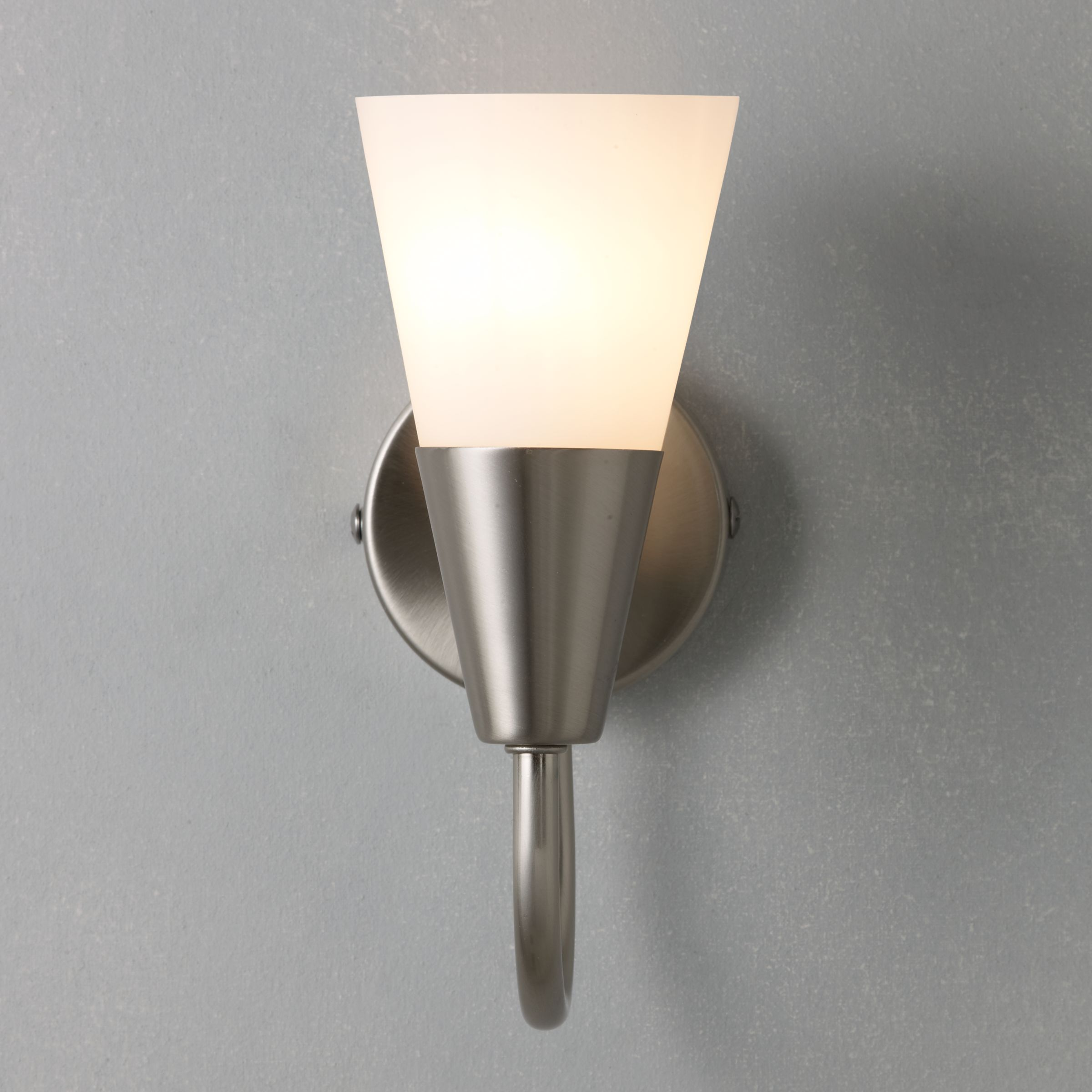 John Lewis Wall Lights Glass : Buy John Lewis The Basics Lulu Wall Light, Brushed Chrome John Lewis
