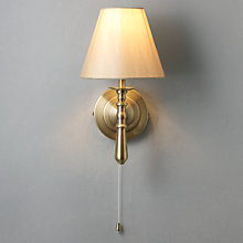 Buy John Lewis Sloane Wall Light, Antique Brass Online at johnlewis.com