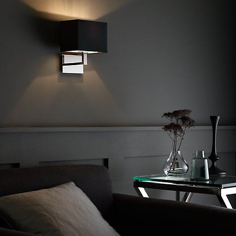 Buy John Lewis Connaught Wall Light, Nickel Online at johnlewis.com