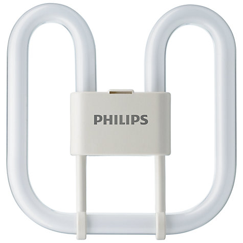 Buy Philips 16W GR8 2-PIN PLQ-2D  Energy Saver Bulb, Opal Online at johnlewis.com