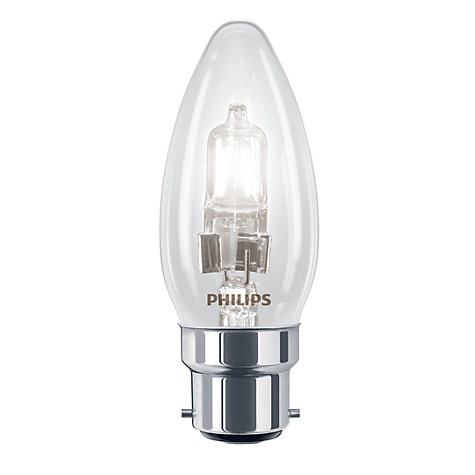 Buy Philips 18W BC Halogen Classic Candle Bulb, Clear Online at johnlewis.com