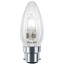 Buy Philips 28W BC Halogen Classic Candle Bulb, Clear Online at johnlewis.com