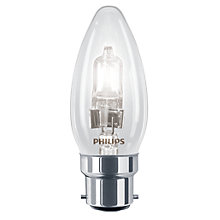 Buy Philips 42W BC Halogen Classic Clear Candle Bulb, Clear Online at johnlewis.com