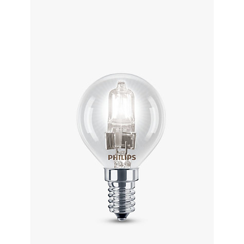 Buy Philips Halogen 42W SES Classic Golf Ball Bulb, Clear Online at johnlewis.com
