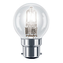 Buy Philips 28W BC Halogen Classic Golf Ball Bulb, Clear Online at johnlewis.com