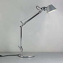 Buy Artemide Tolomeo Micro Table Lamp, Black Online at johnlewis.com