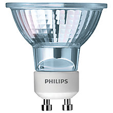 Buy Philips 50W GU10 Twistline Halogen Bulb,Clear, Pack of 3 Online at johnlewis.com