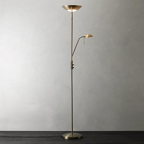 buy john lewis zella uplighter floor lamp john lewis With john lewis zella floor lamp antique brass