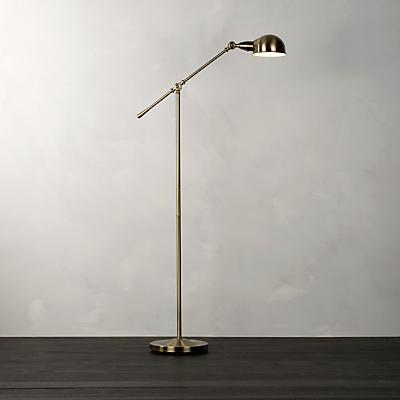 John Lewis James Floor Lamp, Antique Brass