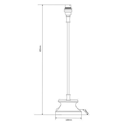 Buy Candlestick Plinth Lamp Base, Shiny Nickel Online at johnlewis.com