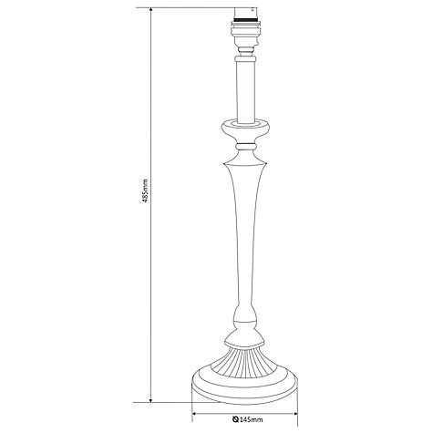 Buy John Lewis Ant Lamp Base, Nickel, Round Online at johnlewis.com