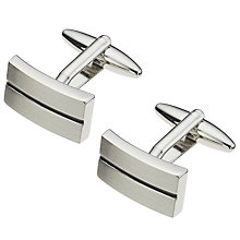 Buy John Lewis Stripe Oblong Cufflinks Online at johnlewis.com