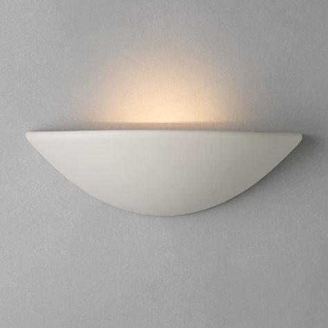 Buy john lewis radius uplighter wall light white john lewis - Applique platre murale ...